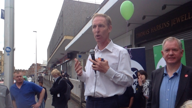 Jim Murphy on a milk crate