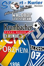 Krombacherpokal, 3.Runde: CfR Pforzheim - SV Waldhof