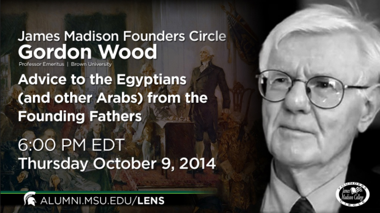 livestream cover image for James Madison Founders Circle | Gordon Wood