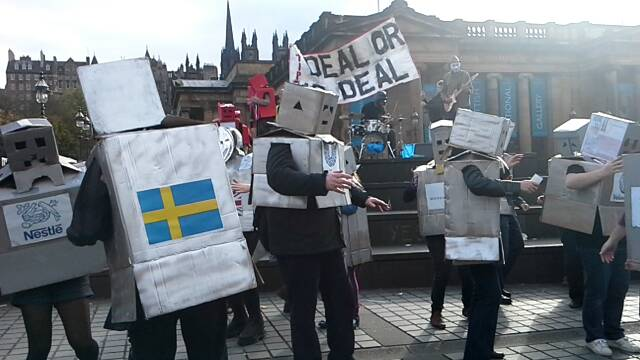 Stop TTIP demos LIVE from Barcelona and Edinburgh