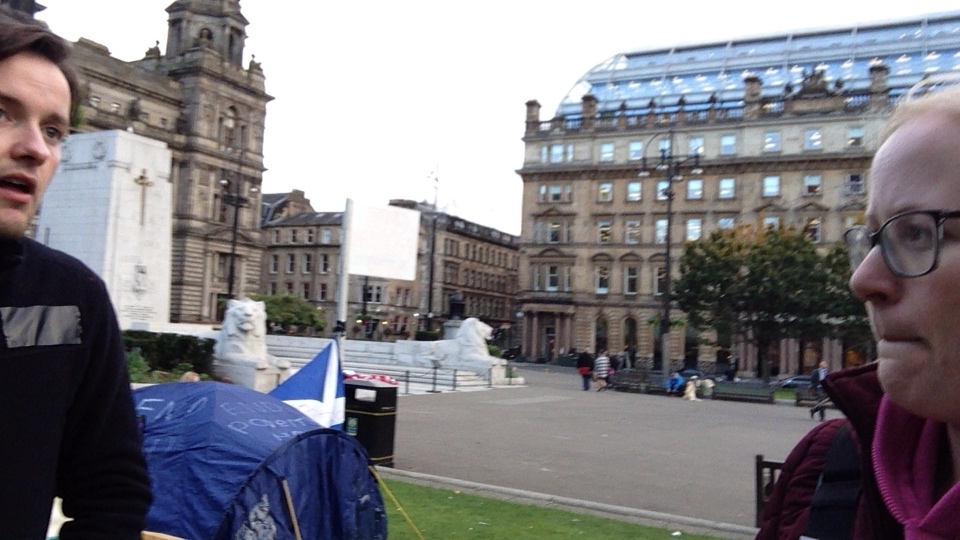 Day 1/7 - Glasgow's Needy - occupy George Square