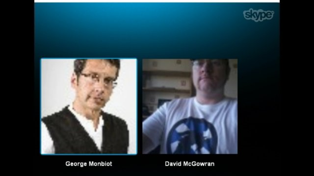 George Monbiot interview via Skype