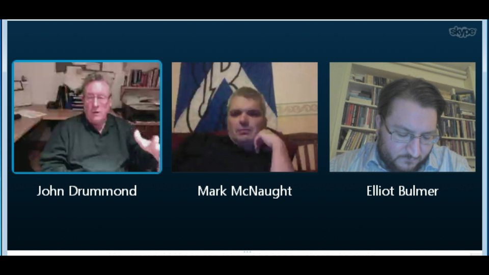 Discussion with John Drummond and Elliot Bulmer via Skype