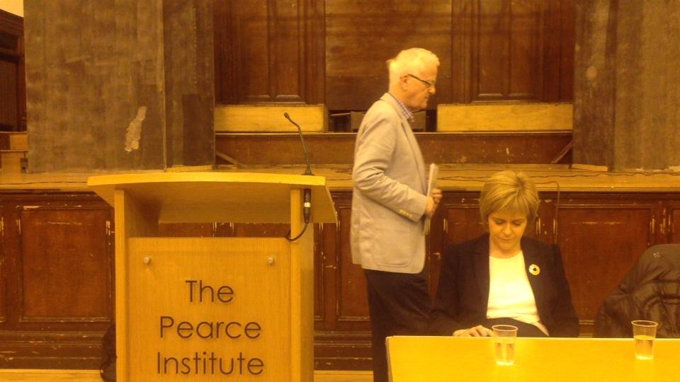 Nicola Sturgeon, Govan SNP branch meeting.
