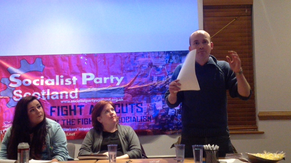 FIGHT against CUTS, CRISIS and CAPITALISM, SPS Public Meeting