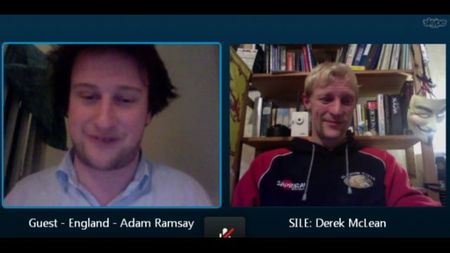 Skype conversation with Adam Ramsay