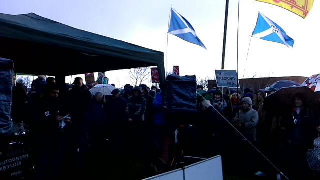 Anti-fracking protest at INEOS in Grangemouth