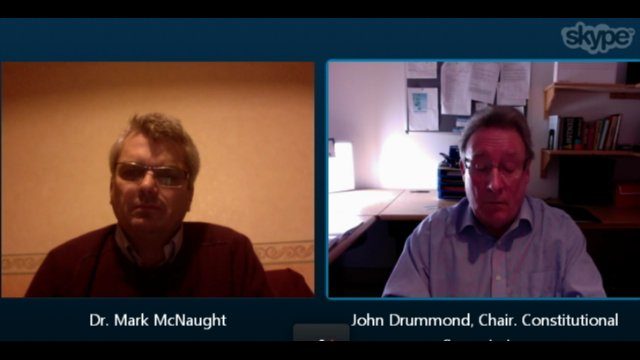 Skype chat with John Drummond and Dr Mark McNaught