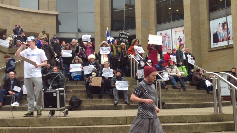 Occupy The Buchanan St Steps