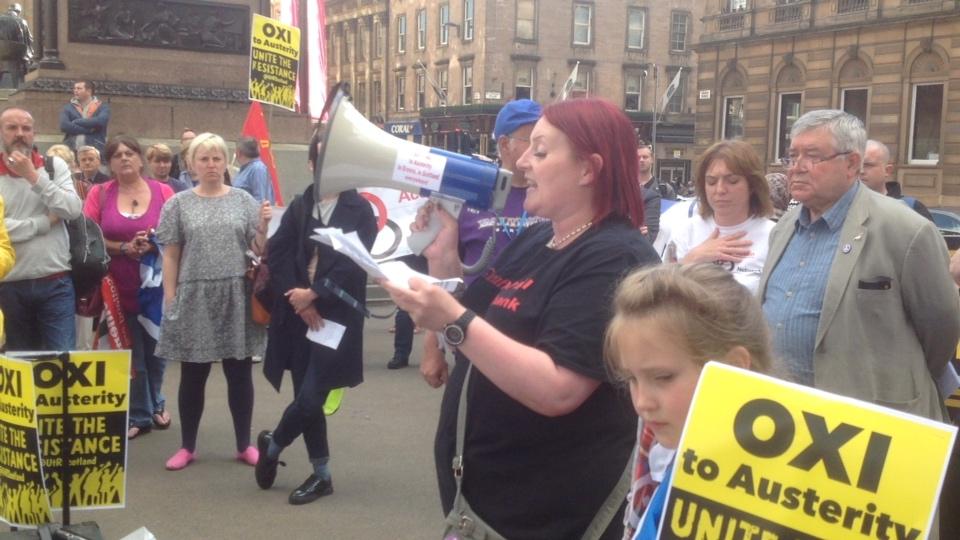 Glasgow Protest Osborne's