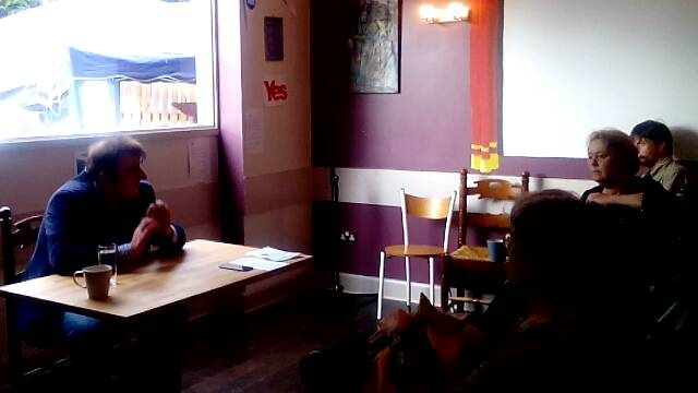 Tommy Sheppard MP at the Yes Cafe