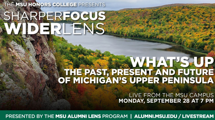 livestream cover image for What's UP: The Past, Present and Future of Michigan's Upper Peninsula