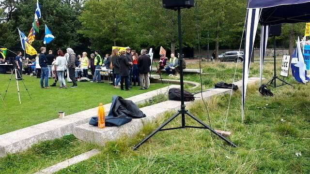 Roving camera - Scotland Against Fracking