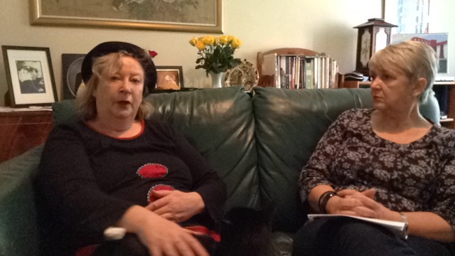 On the sofa with Penny Cole, anti-fracking activist