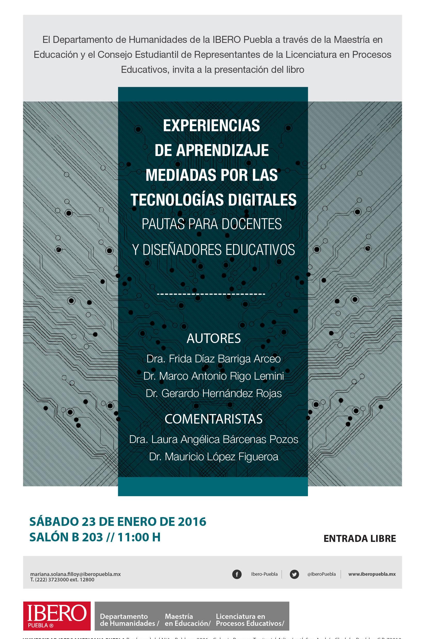 Presentación del libro Experiencias de Aprendizaje Mediadas por las ...