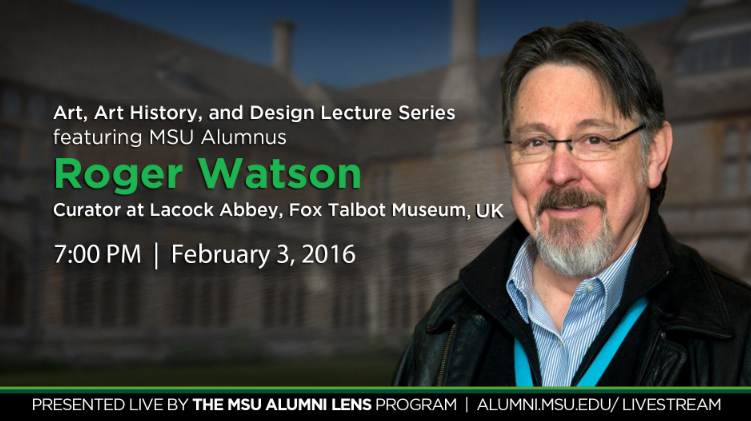 livestream cover image for Roger Watson  |  Art, Art History, and Design Lecture Series