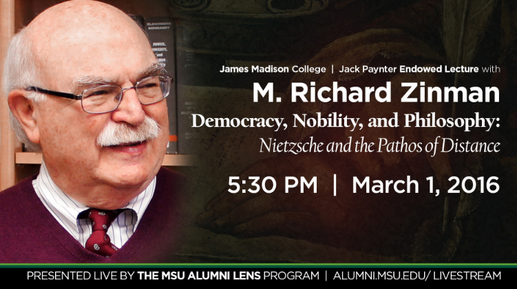 livestream cover image for Richard Zinman | Jack Paynter 2016 Lecture