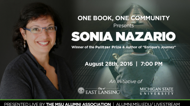 livestream cover image for Sonia Nazario | One Book One Community