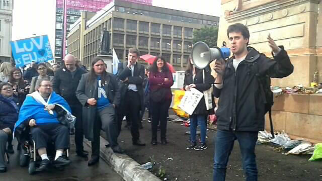 Glasgow: Demonstration for Scotland to Remain in the EU