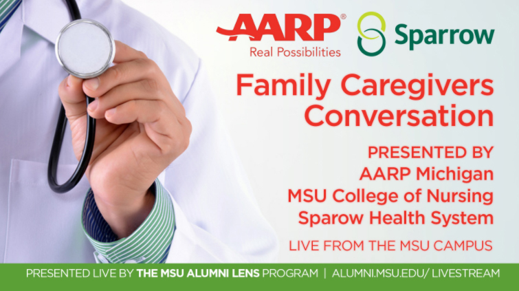 livestream cover image for AARP MI Family Caregivers Conversation
