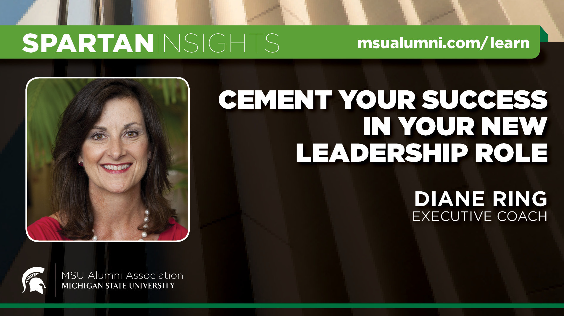 webinar cover image for Diane Ring | Cement Your Success In Your New Leadership Role