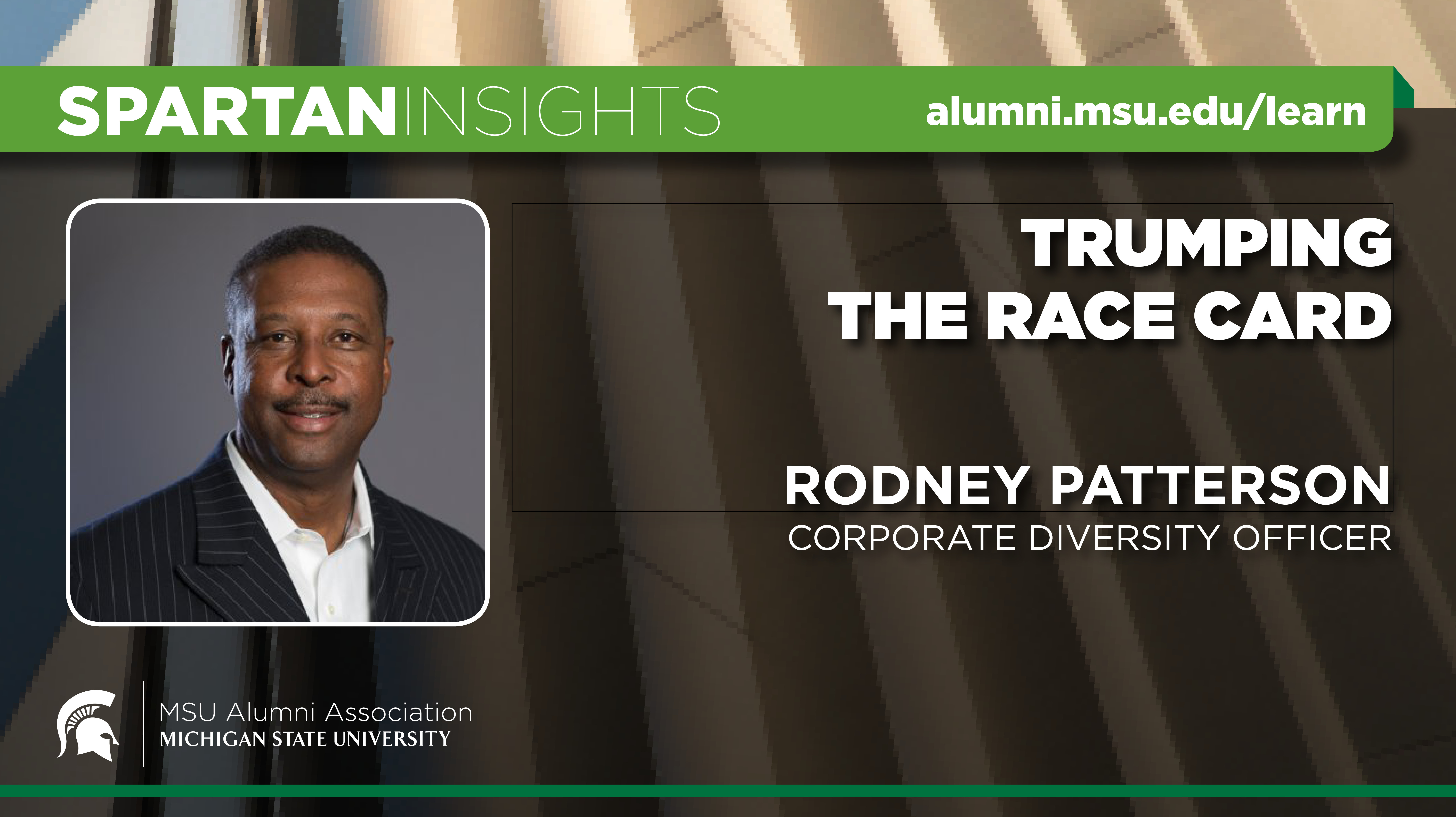 webinar cover image for Rodney Patterson | Trumping The Race Card
