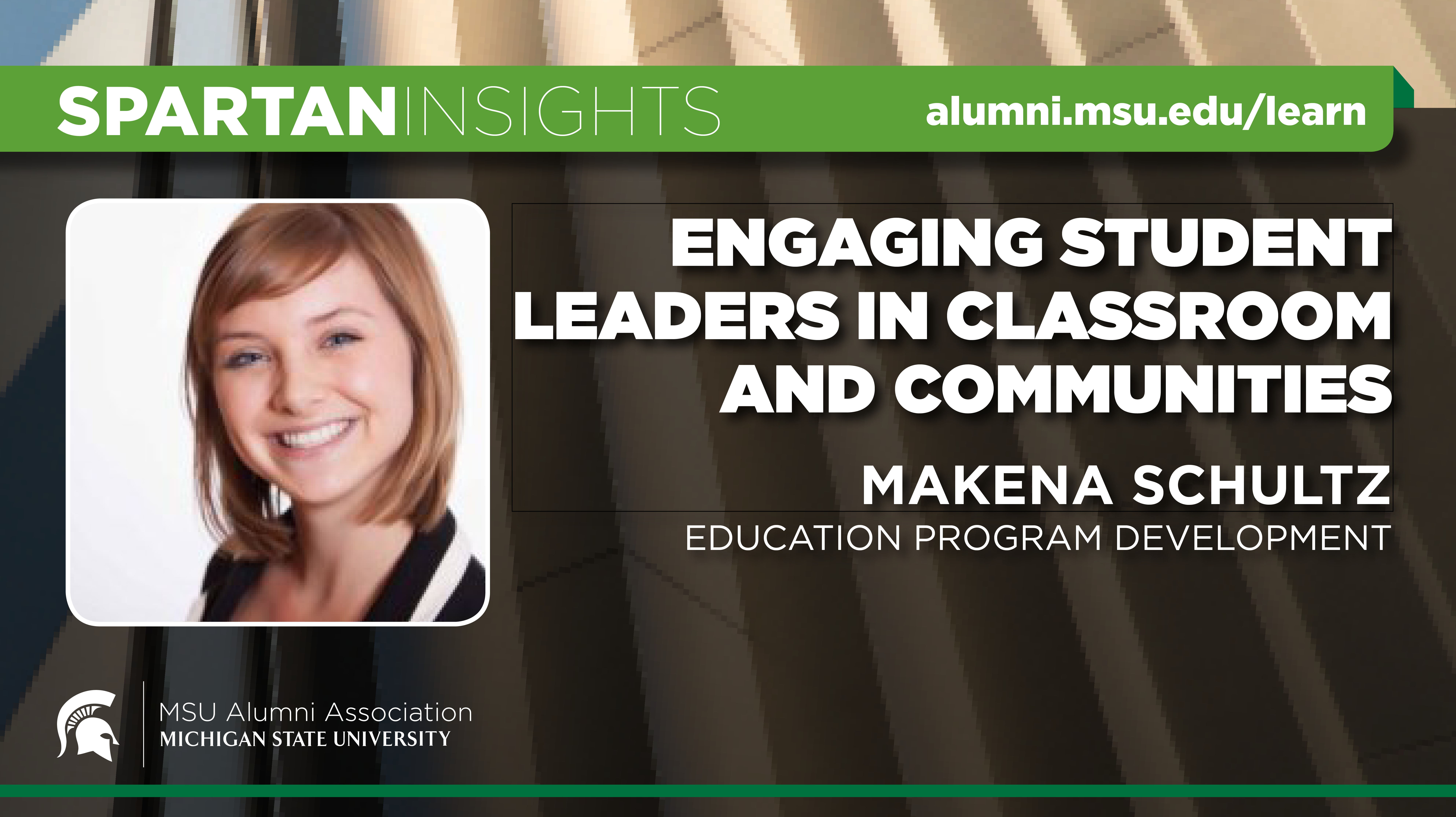 webinar cover image for Makena Schultz | Engaging Student Leaders In Classroom And Communities