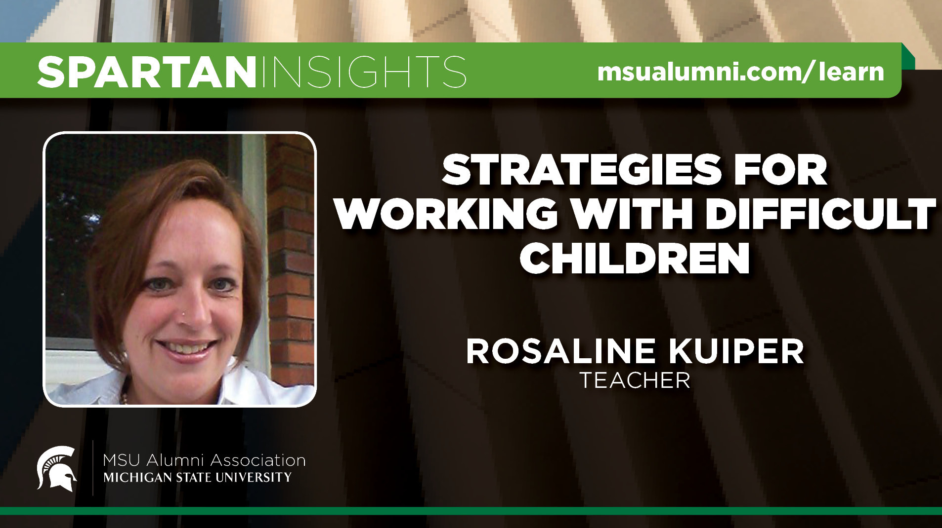 livestream cover image for Rosaline Kuiper | Strategies For Working With Difficult Children