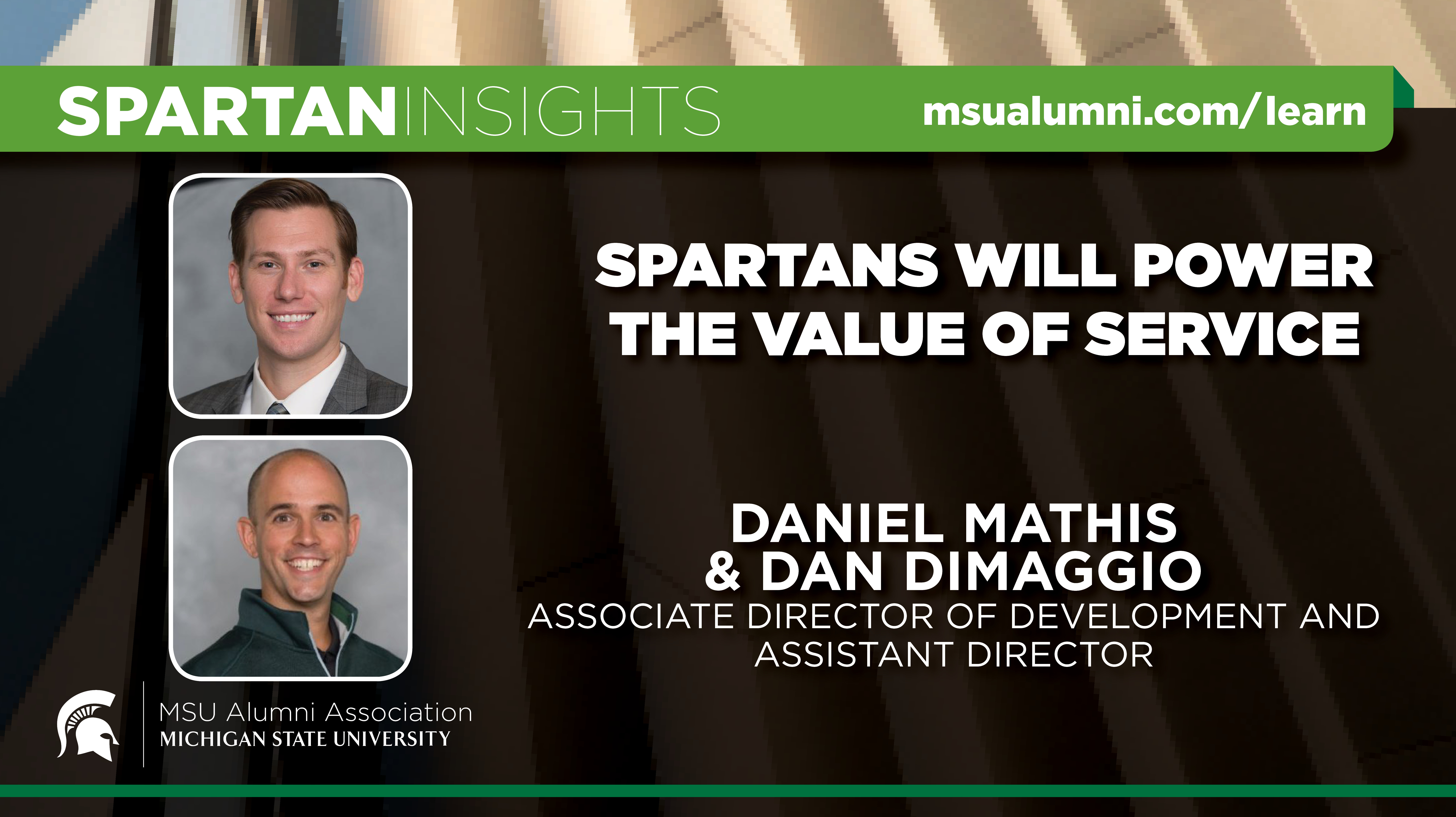 webinar cover image for Daniel Mathis & Dan DiMaggio | Spartans Will Power The Value Of Service