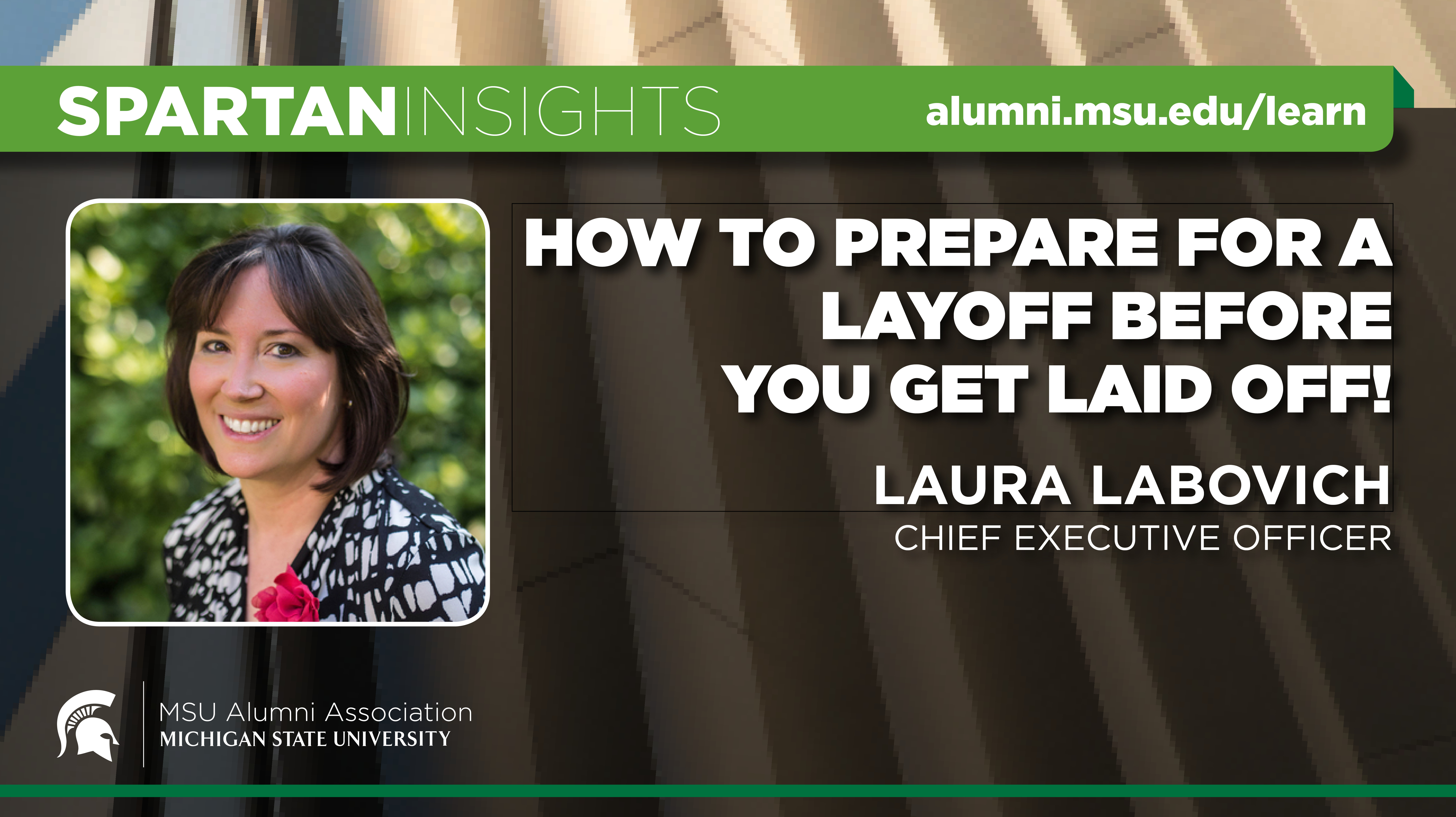 webinar cover image for Laura Labovich | How To Prepare for a Layoff Before you Get Laid Off