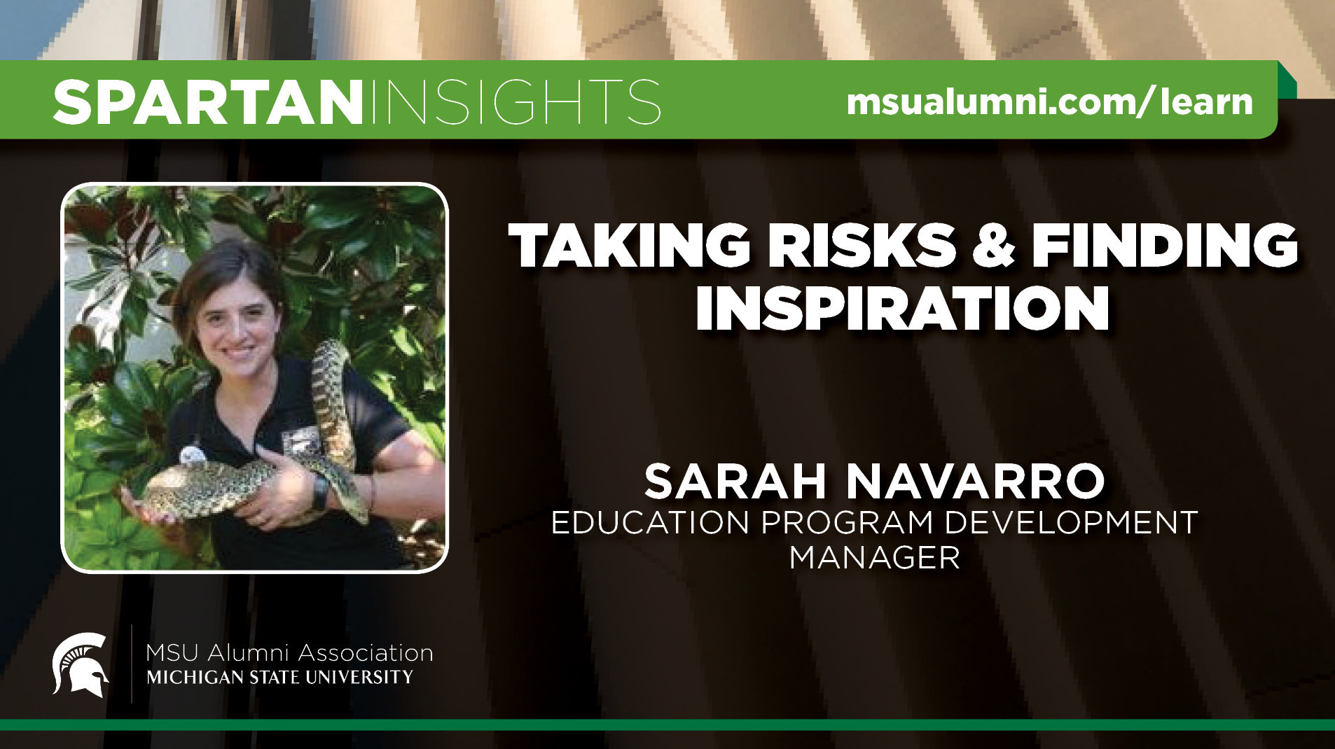 webinar cover image for Sarah Navarro | Taking Risks And Finding Inspiration