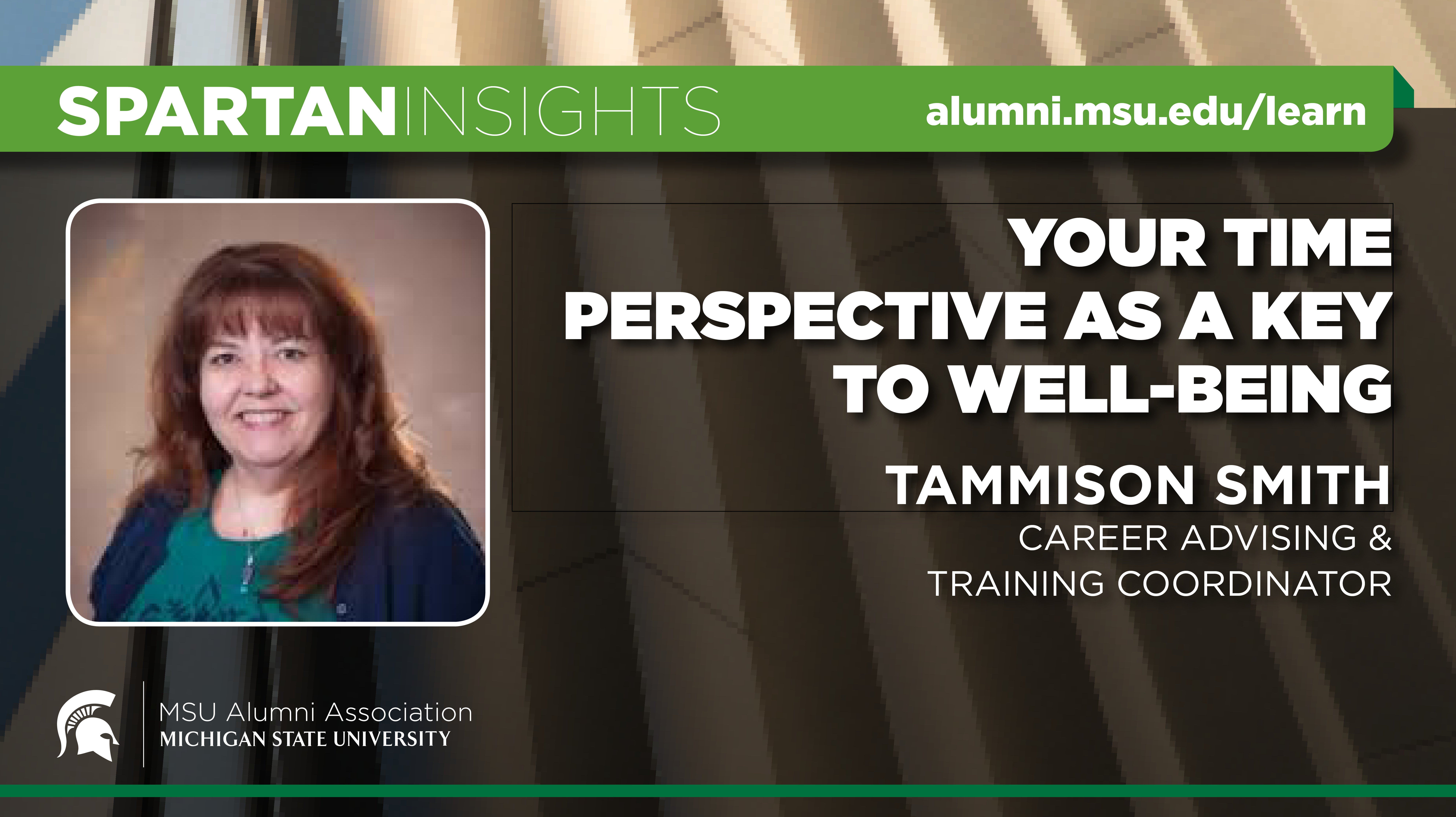 webinar cover image for Tammison Smith | Your Time Perspective As A Key To Well Being