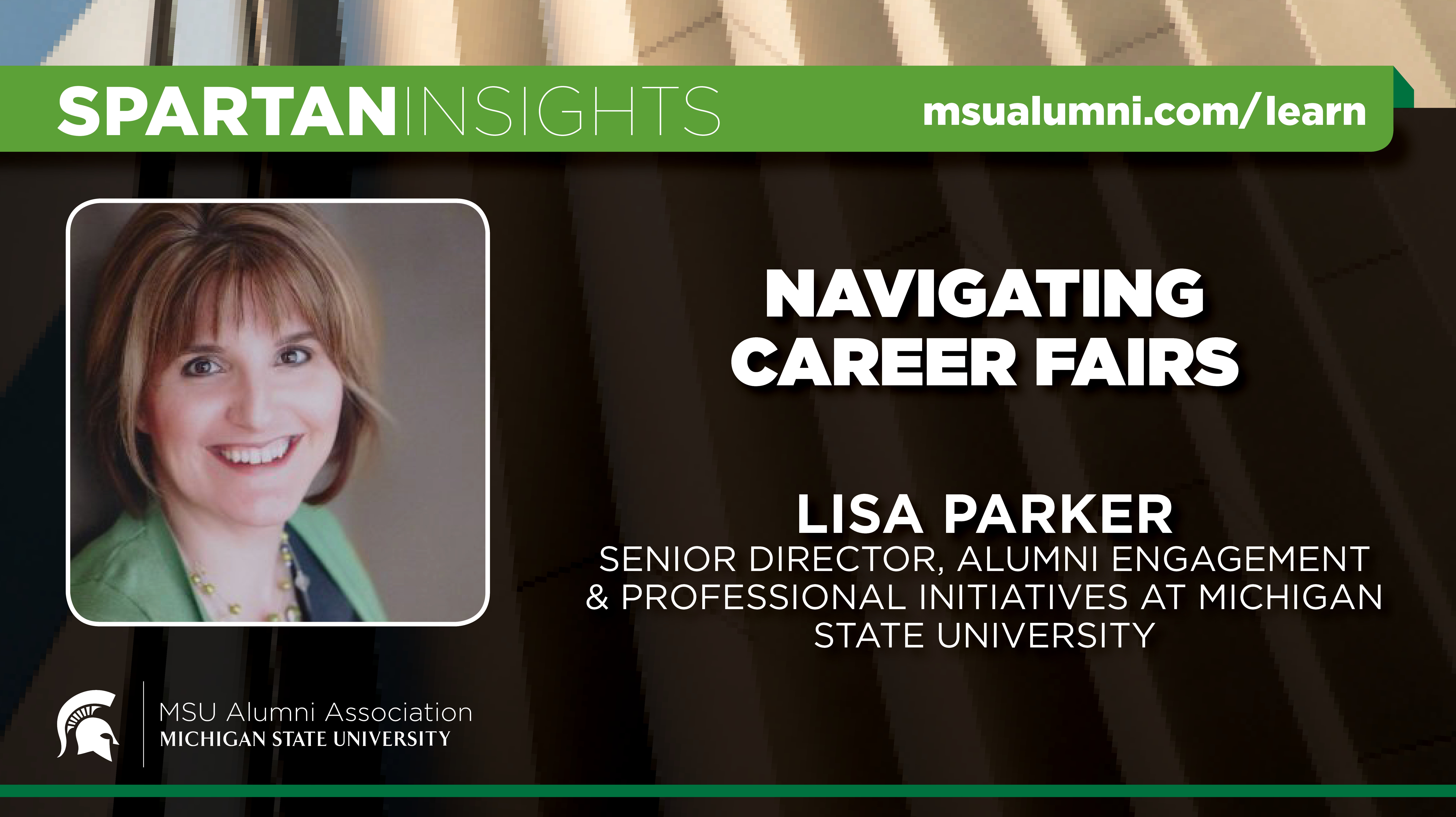 webinar cover image for Lisa Parker | Navigating Career Fairs