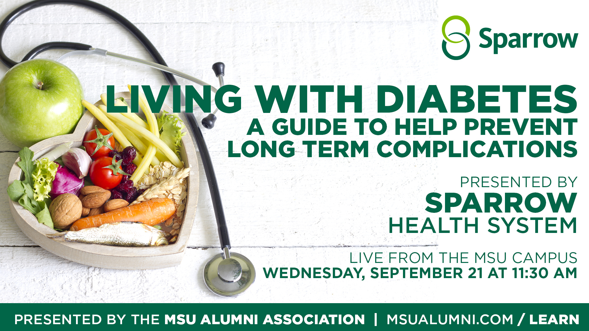 livestream cover image for Sparrow | Living With Diabetes, A Guide to Help Prevent Long Term Complications