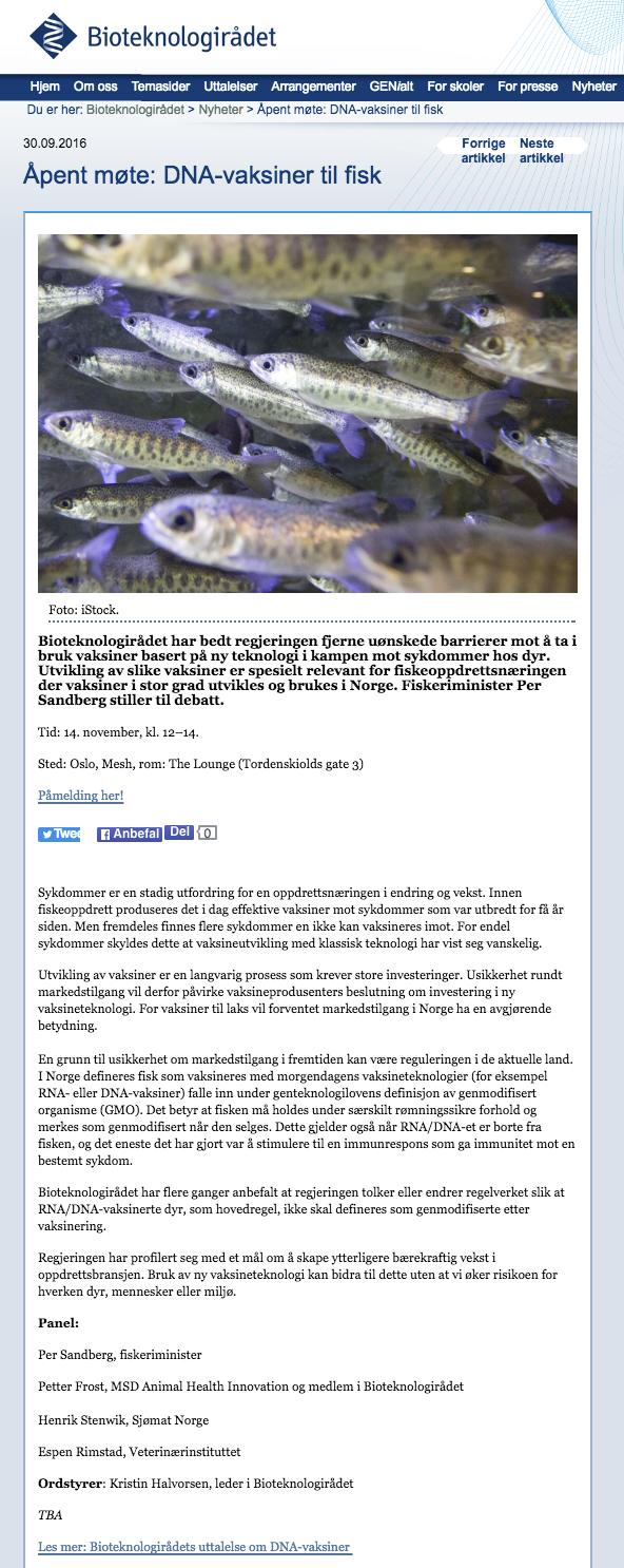 immunologiske sykdommer hos fisk