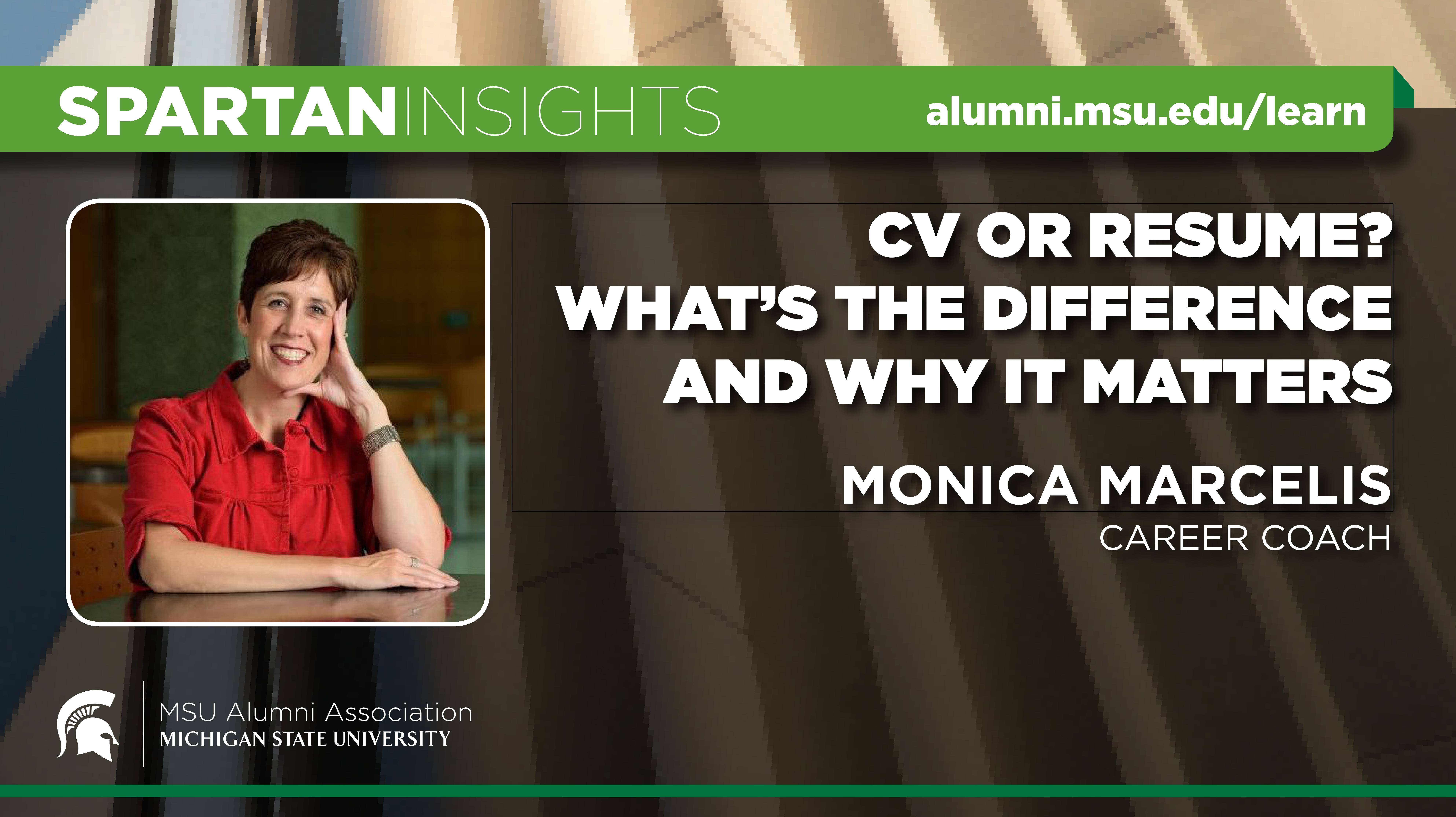 webinar cover image for Monica Marcelis Fochtman | CV Or Resume? What's the Difference & Why it Matters