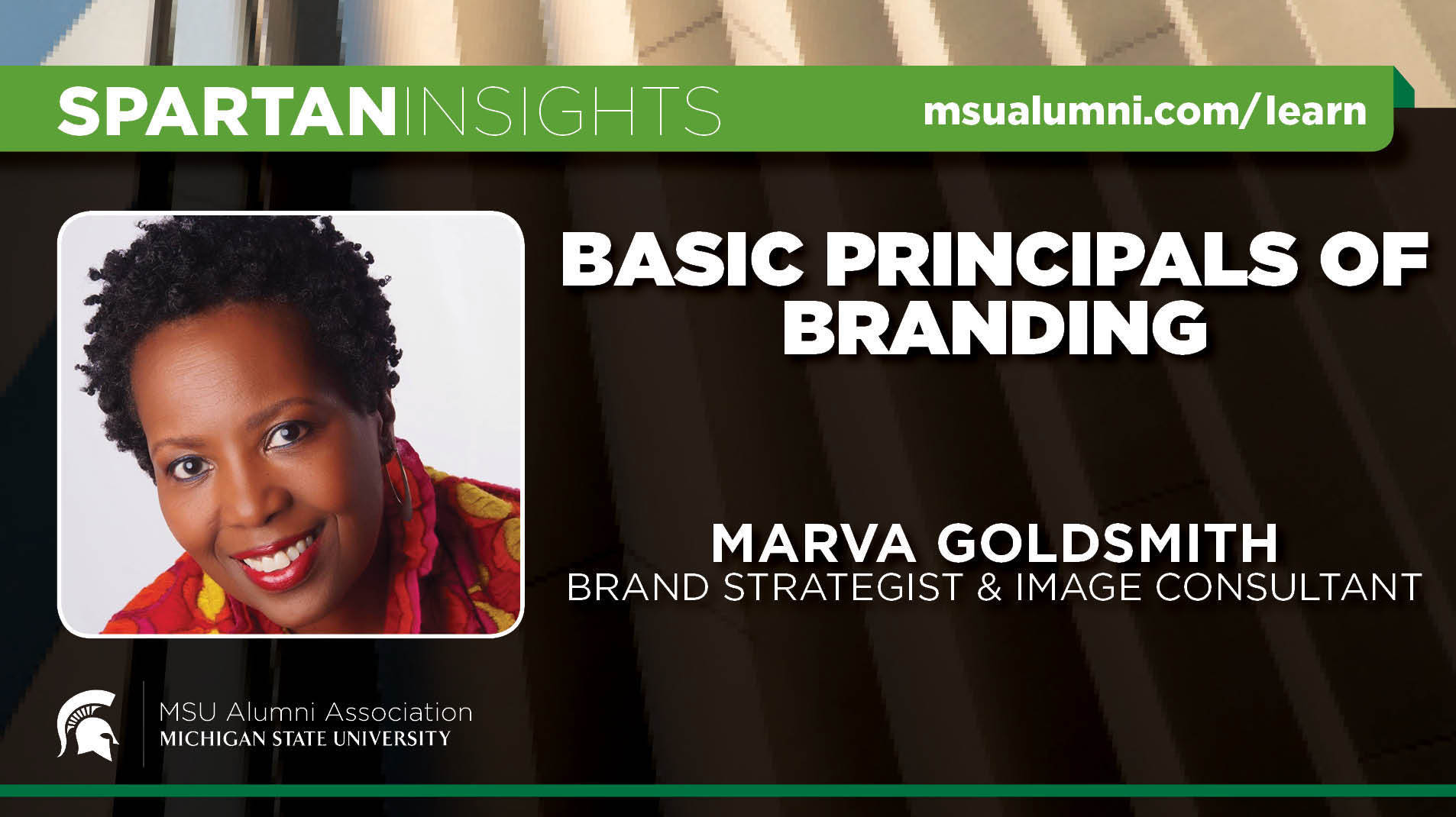 webinar cover image for Marva Goldsmith | Basic Principles of Branding