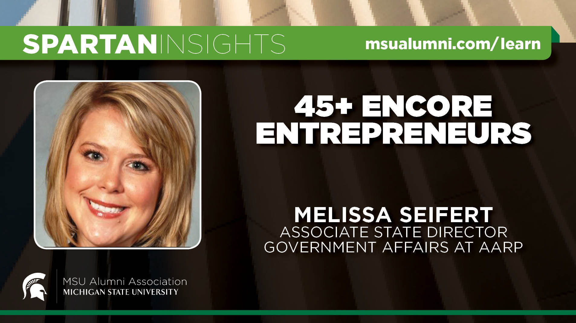 livestream cover image for Melissa Seifert | 45+ Encore Entrepreneurs
