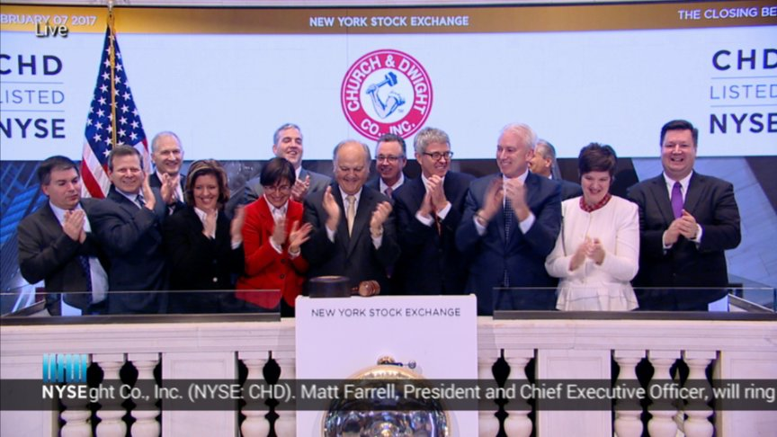 Church Dwight Co Inc Rings The Nyse Closing Bell On Livestream