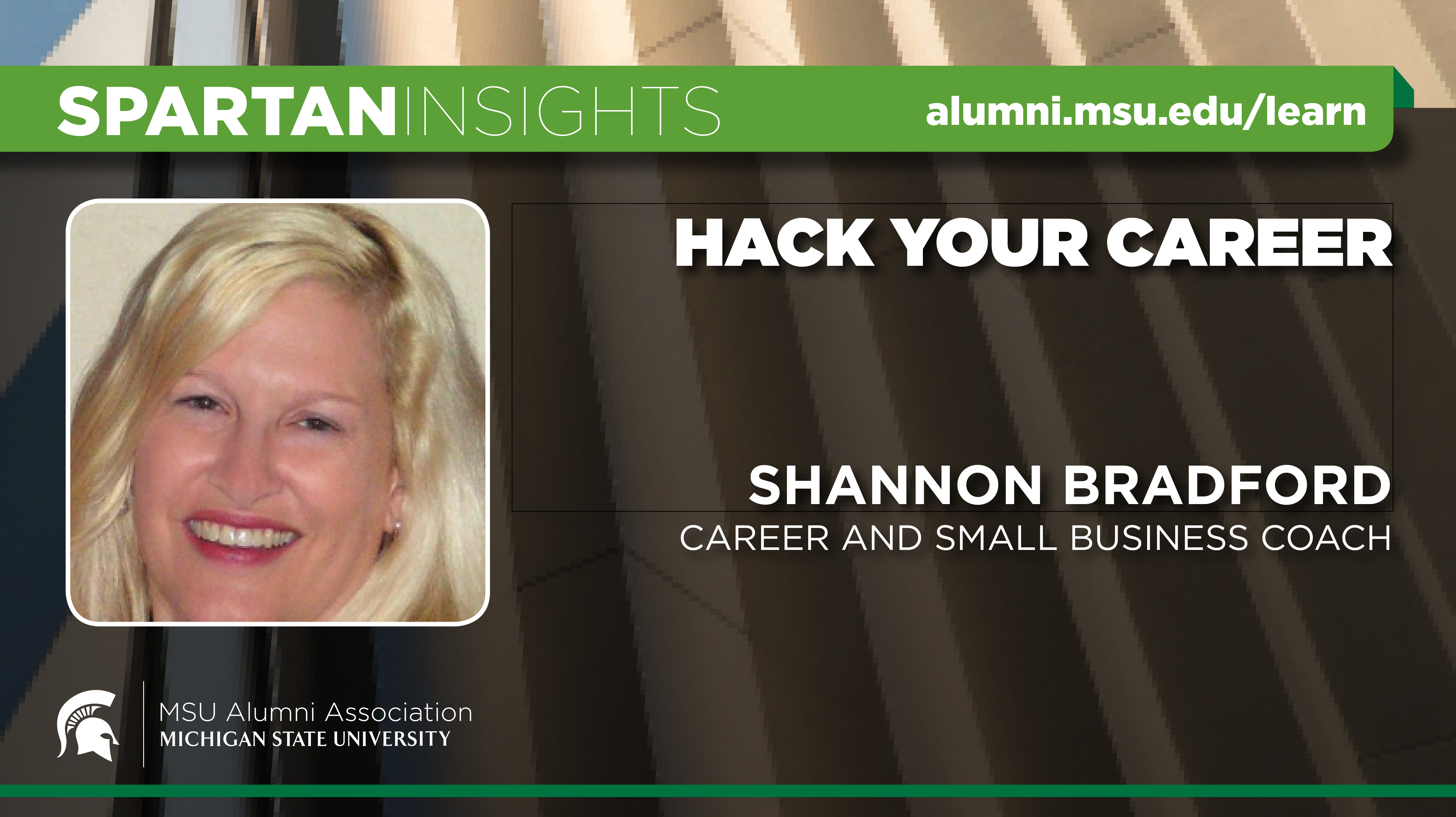 webinar cover image for Shannon Bradford | Hack Your Career