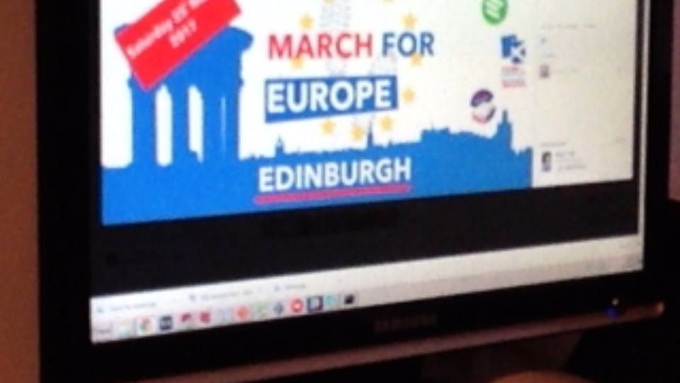 March for Europe in Edinburgh