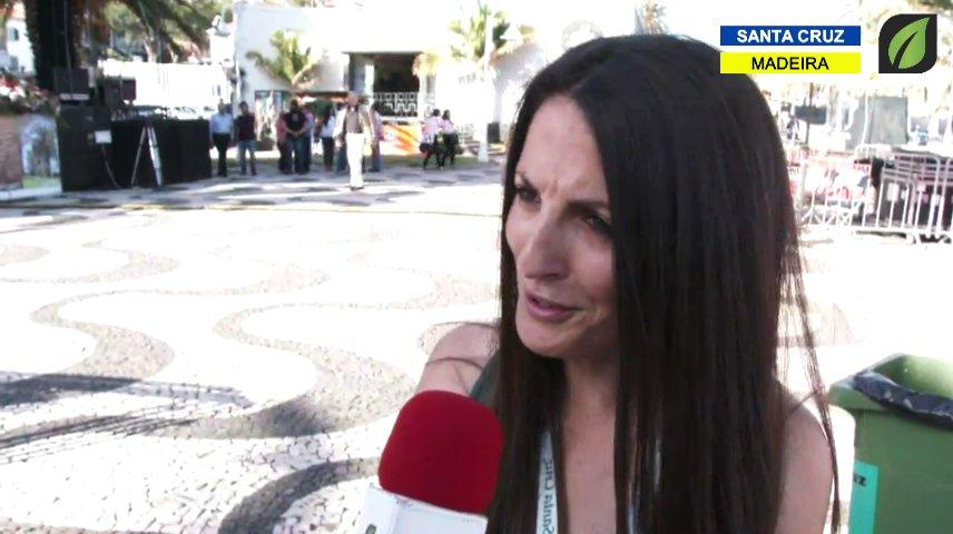 Taciana Gouveia em entrevista nas Comemorações do Dia do Concelho de Santa Cruz TV HD (2017)