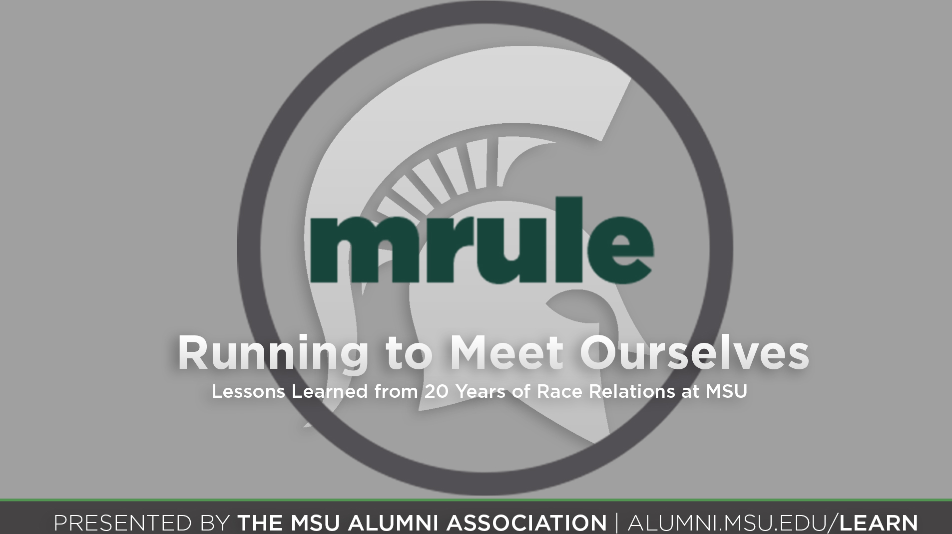 livestream cover image for Running to Meet Ourselves | Lessons Learned from 20 Years of Race Relations at MSU