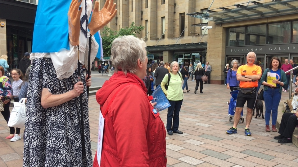 Women's March to Ban the Bomb, solidarity Event in Glasgow
