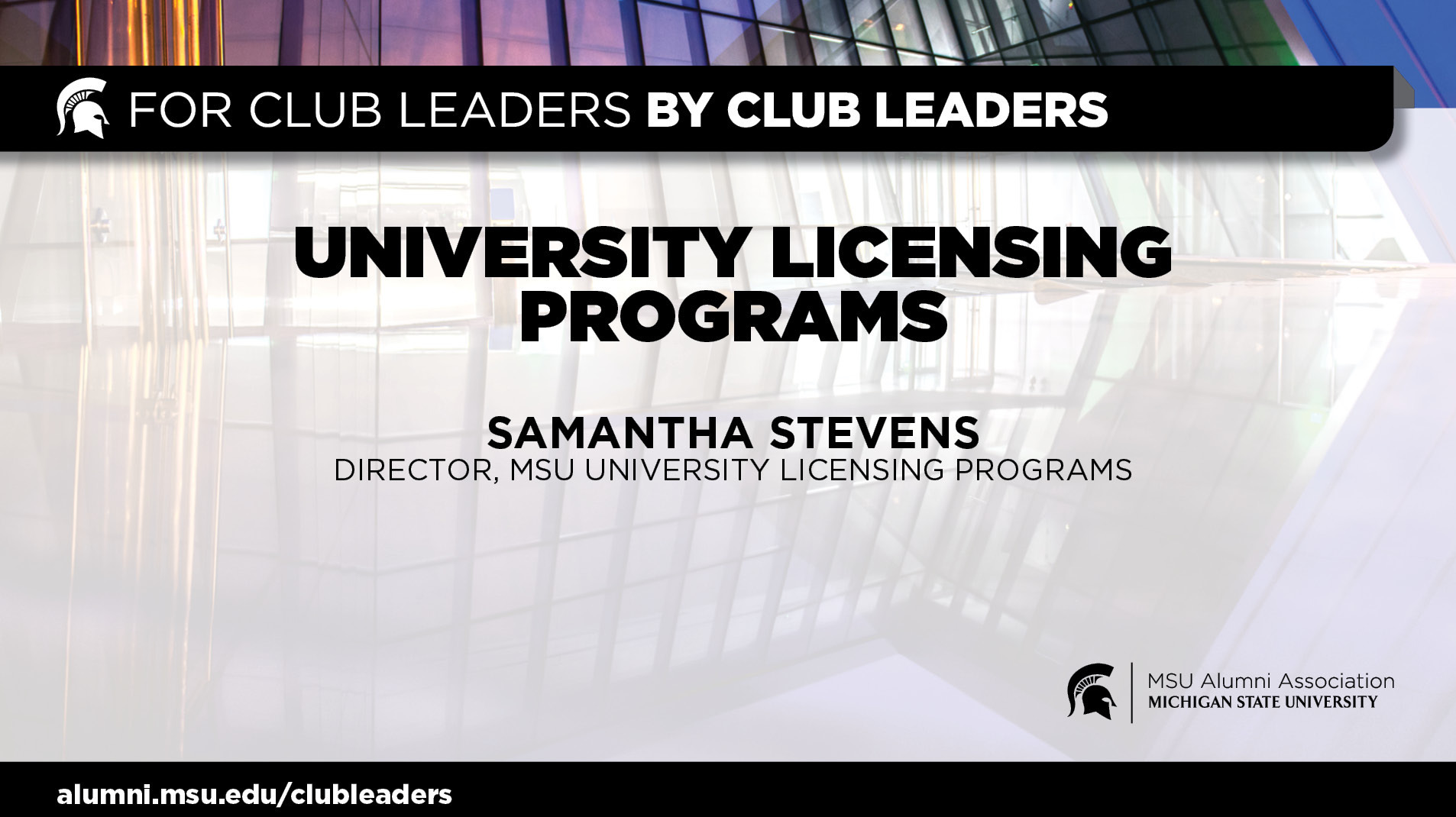 livestream cover image for How MSU Clubs Can Support MSU Through Supporting Licensed Products & Vendors | Samantha Stevens