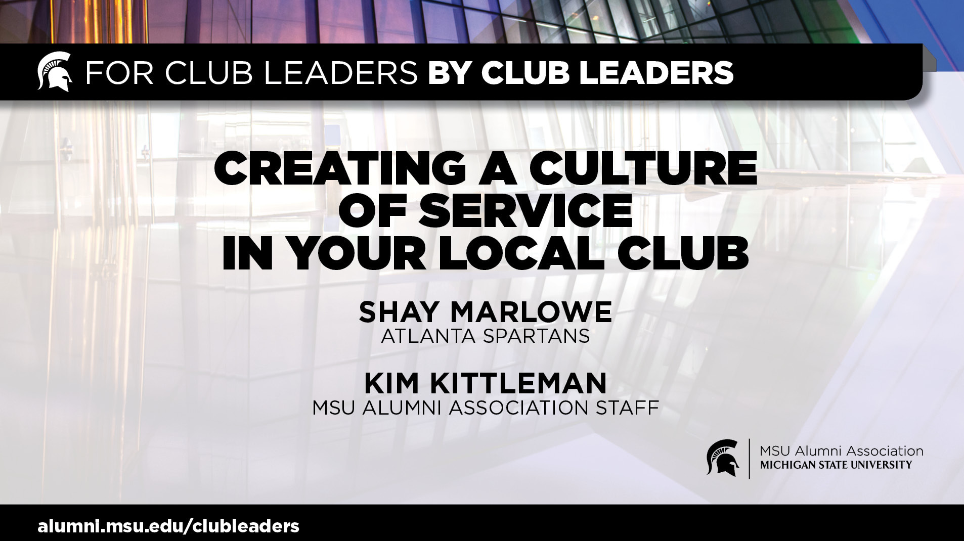 livestream cover image for Creating a Culture of Service In Your Local Club | Shay Marlowe & Kim Kittleman