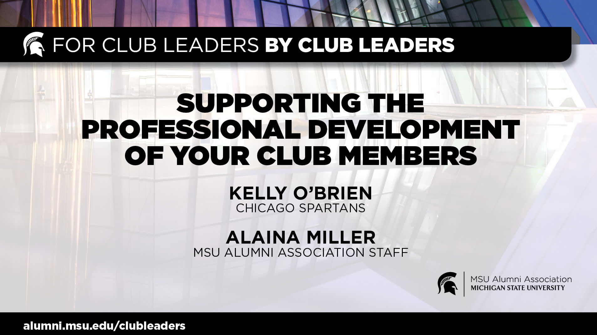 livestream cover image for Supporting the Professional Development of Your Club Members | Kelly O'Brien & Alaina Miller