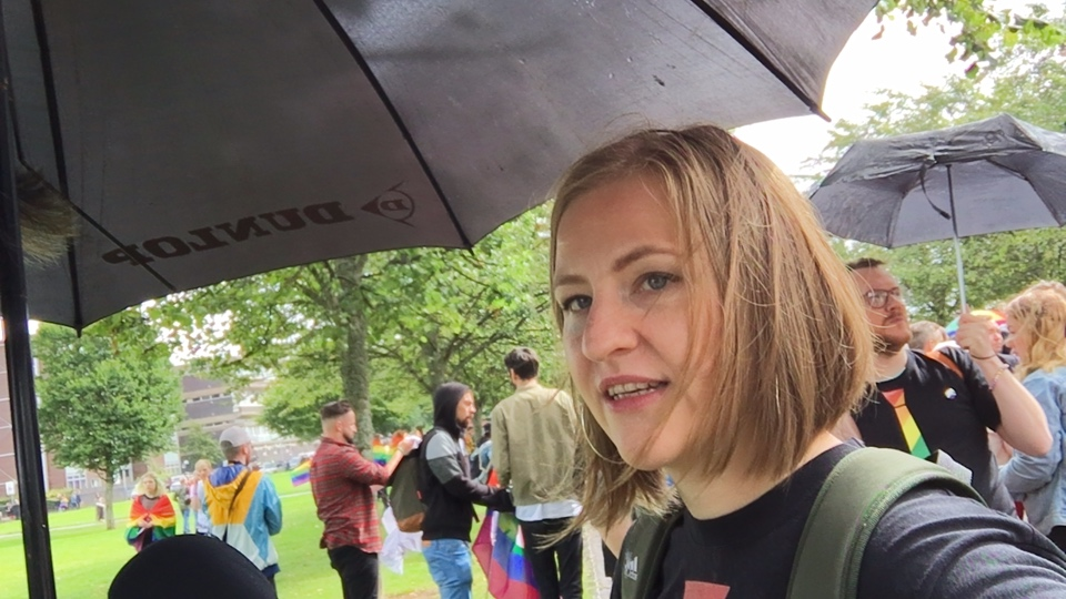 Pride Glasgow annual parade of LGBTI