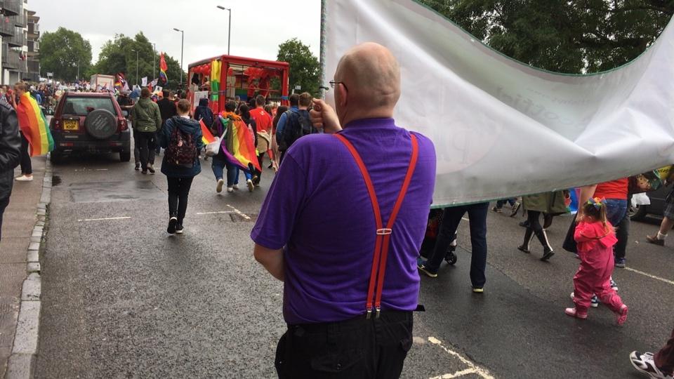 Pride Glasgow annual parade of LGBTI