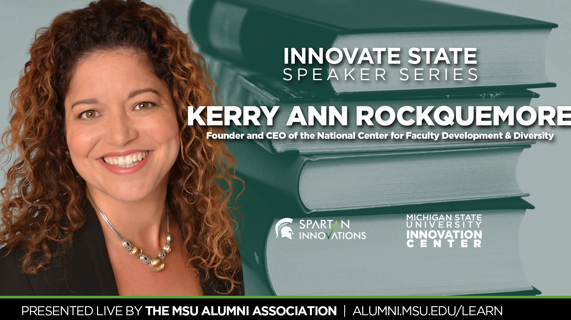 livestream cover image for Innovate State | Dr. Kerry Ann Rockquemore